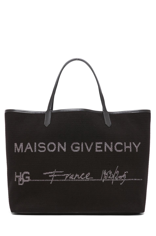 Image 1 of GIVENCHY Antigona Canvas Logo Shopper in Black