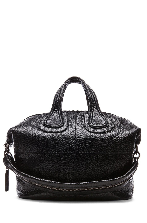 Image 1 of GIVENCHY Medium Grainy Leather Nightingale in Black