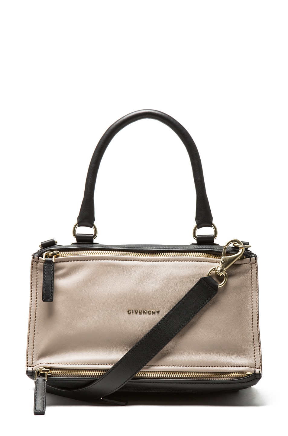 Image 1 of GIVENCHY Medium Tri Color Pandora in Taupe