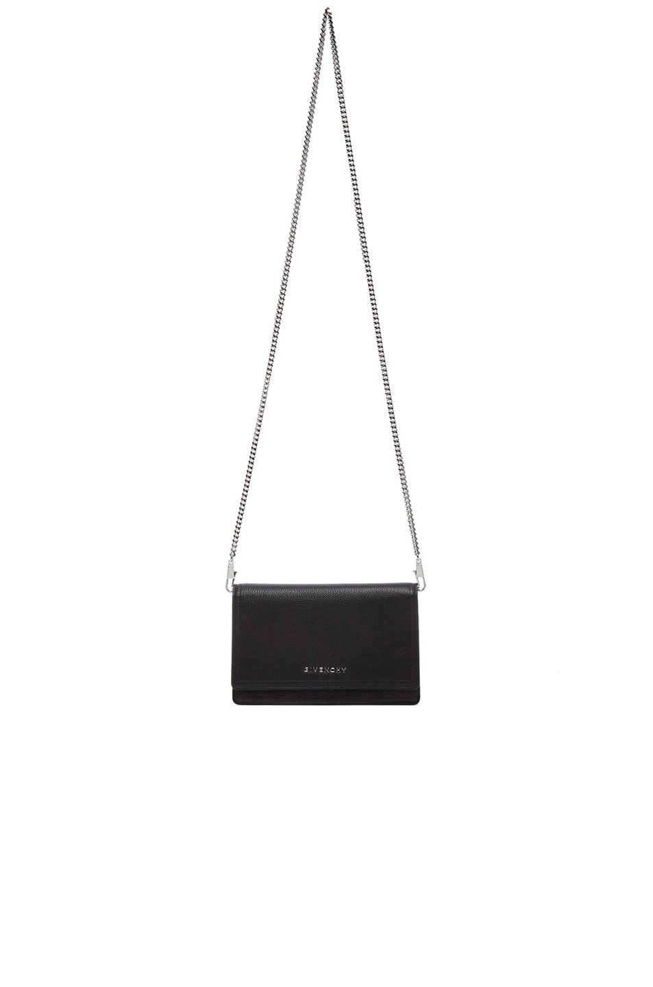 Image 1 of GIVENCHY Pandora Chain Wallet in Black