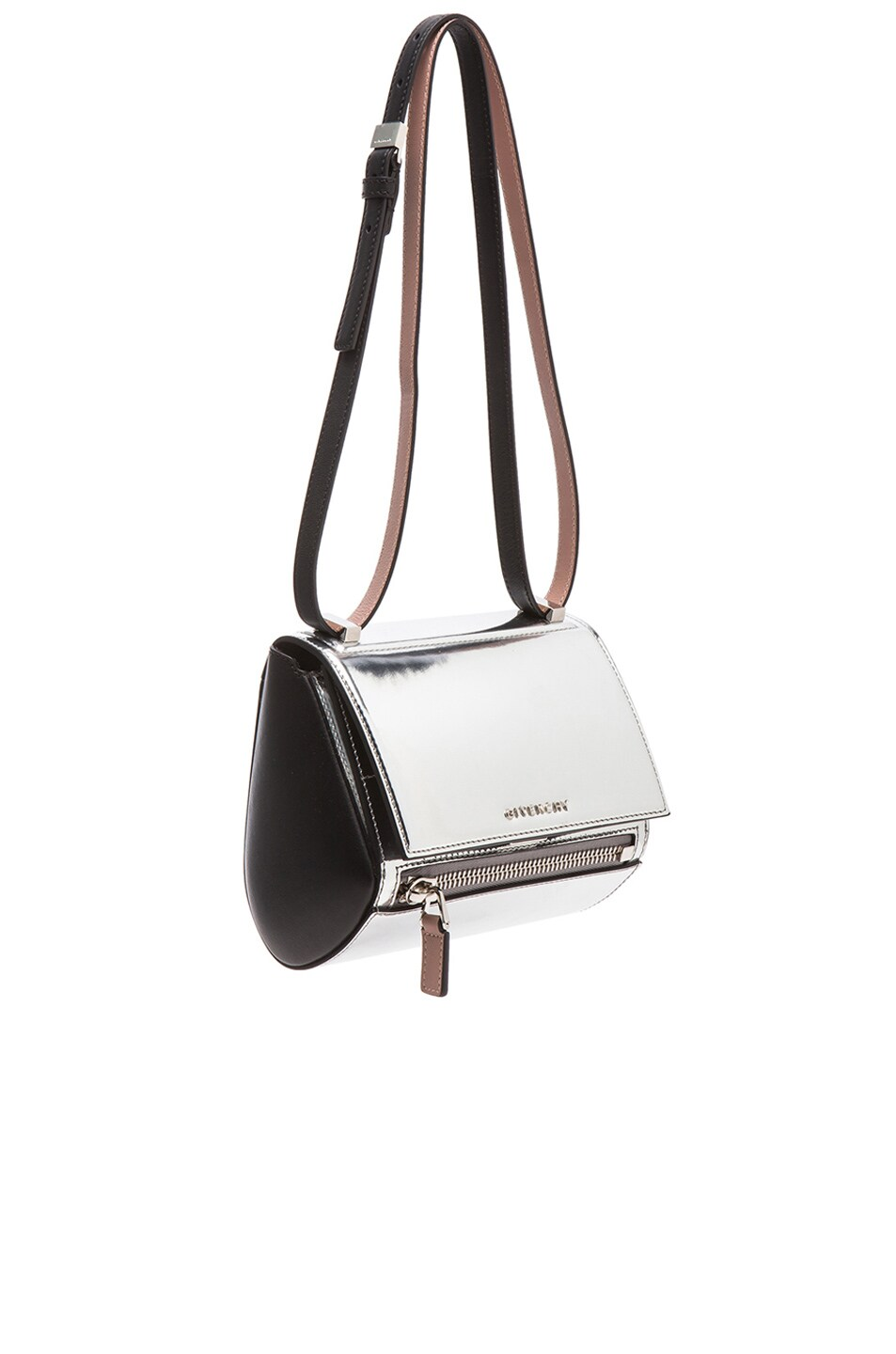Image 1 of GIVENCHY Small Mirrored Pandora Box in Silver