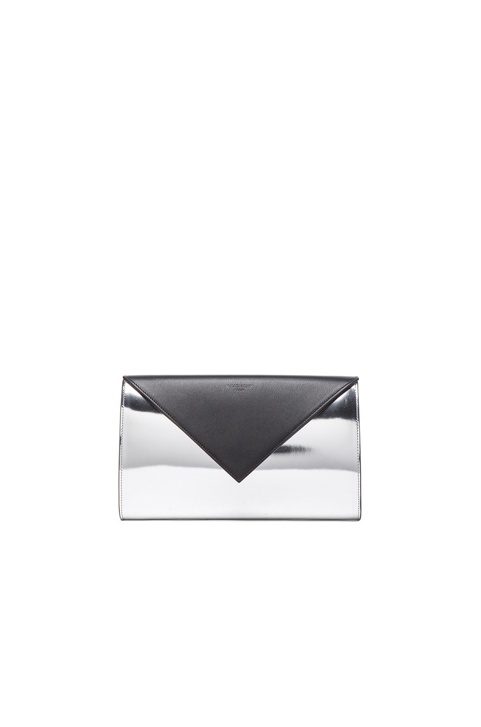 Image 1 of GIVENCHY Mirror Evening Clutch in Black & Silver