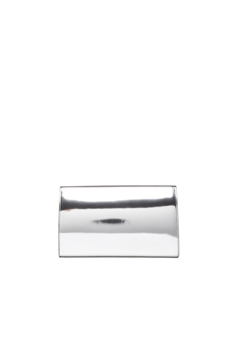 Image 3 of GIVENCHY Mirror Evening Clutch in Black & Silver