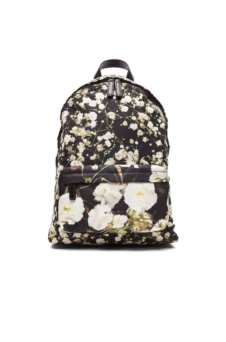 Image 1 of GIVENCHY Baby's Breath Mix Print Nylon Backpack in Multi