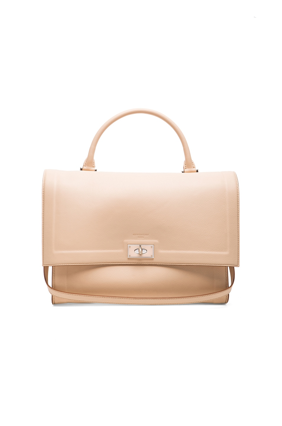 Image 1 of Givenchy Medium Waxy Leather & Plexi Shark in Light Beige