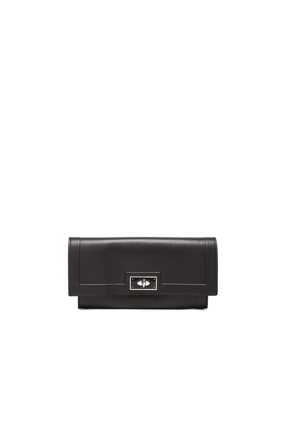 Image 1 of Givenchy Shark Long Flap Wallet in Black
