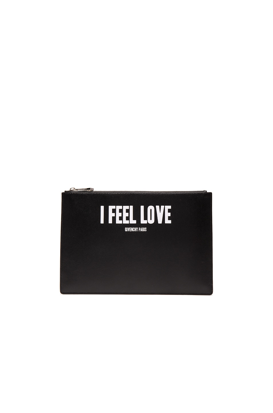 Image 1 of Givenchy Medium I Feel Love Printed Pouch in Black
