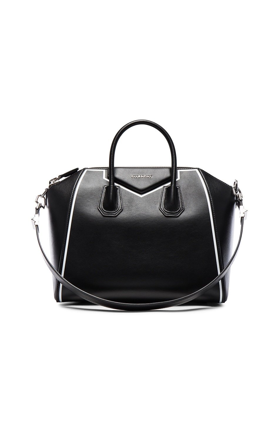 Givenchy Small Contrasted Frame Antigona in Black | FWRD