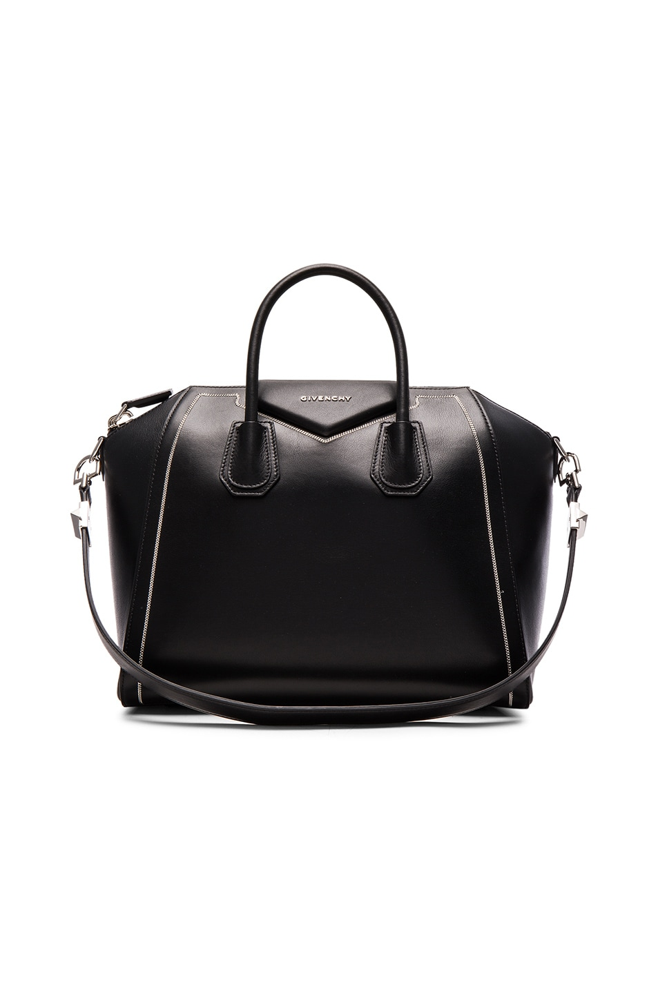 Image 1 of Givenchy Medium Antigona with Chain Detail in Black