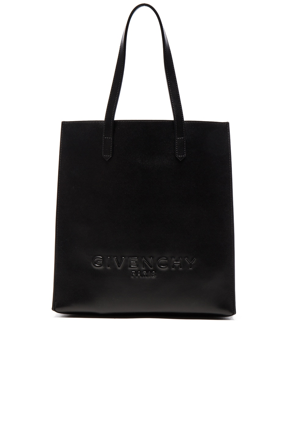 Image 1 of Givenchy Debossed Tote in Black