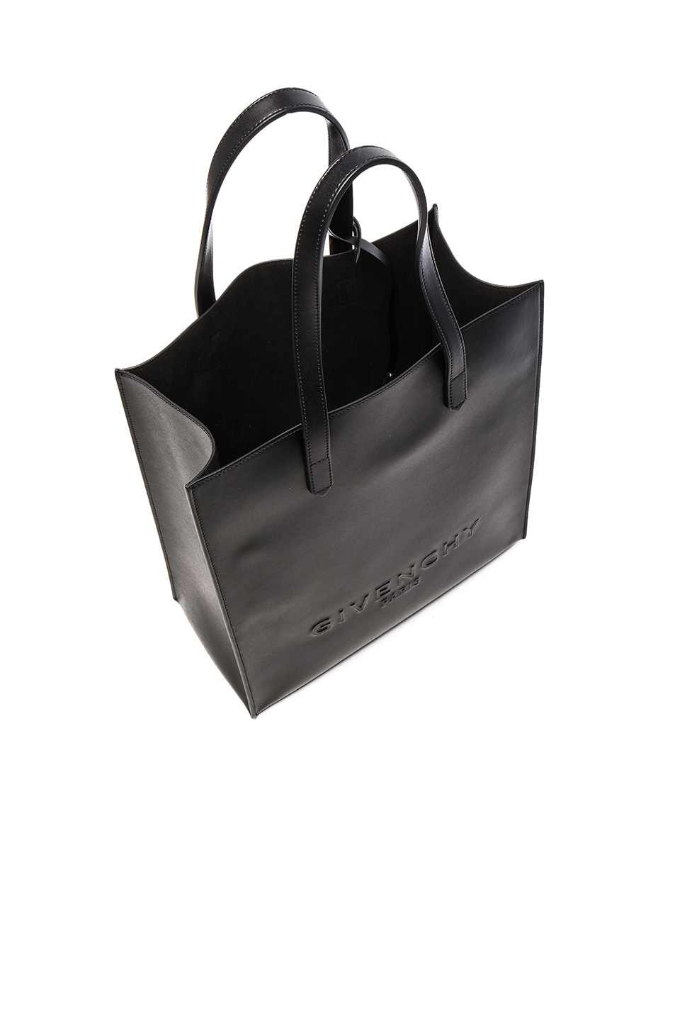 Image 5 of Givenchy Debossed Tote in Black
