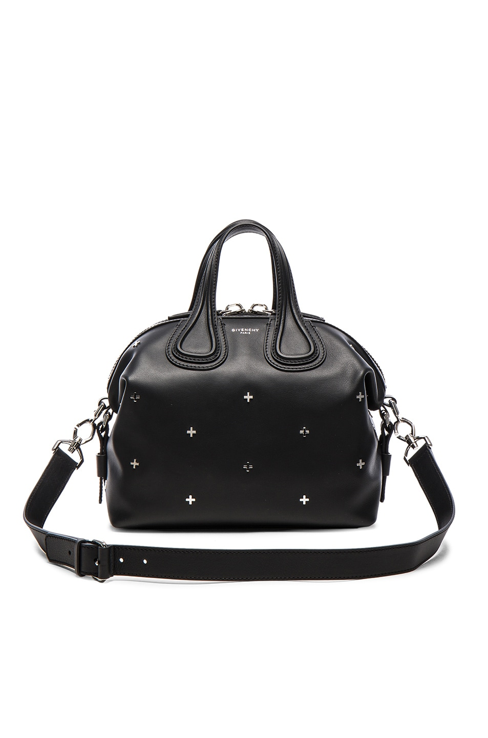7b2fd33e0adba Image 1 of Givenchy Small Metal Cross Nightingale in Black
