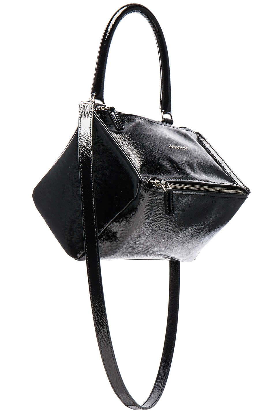 f0de5b2d396 Image 1 of Givenchy Pandora Patent Small Bag in Black
