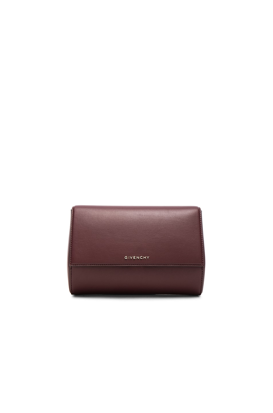 Image 1 of Givenchy Pandora Box Clutch in Oxblood