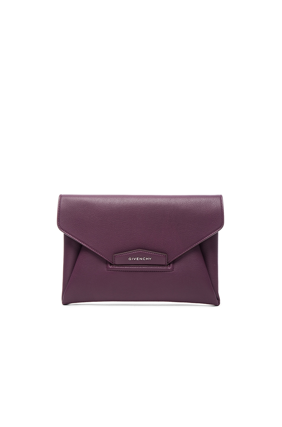 Image 1 of Givenchy Medium Antigona Envelope Clutch in Dark Purple