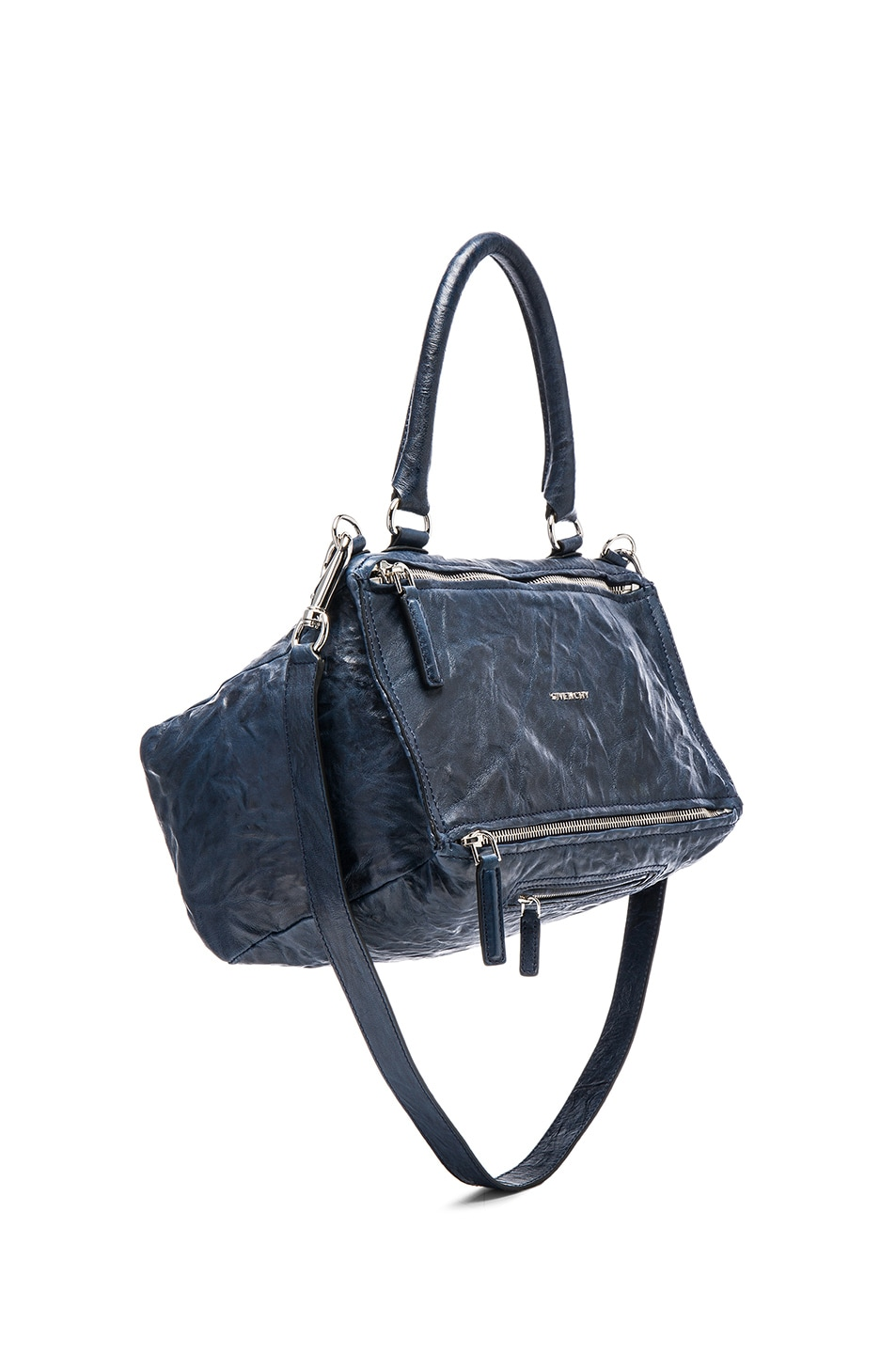 90783548c0d Image 1 of Givenchy Medium Old Pepe Pandora in Night Blue