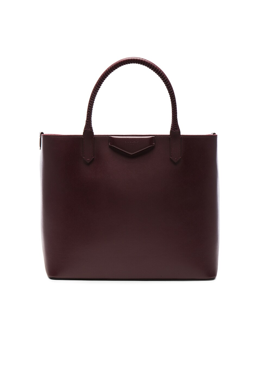 f0c0c2ca8247 Image 1 of Givenchy Antigona Shopping Bag in Oxblood