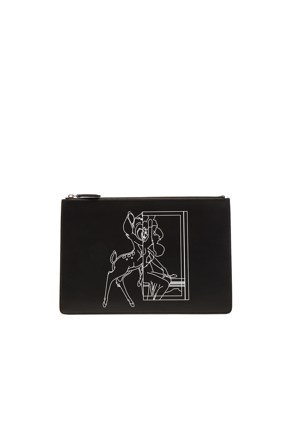 Image 1 of Givenchy Bambi Printed Medium Pouch in Black