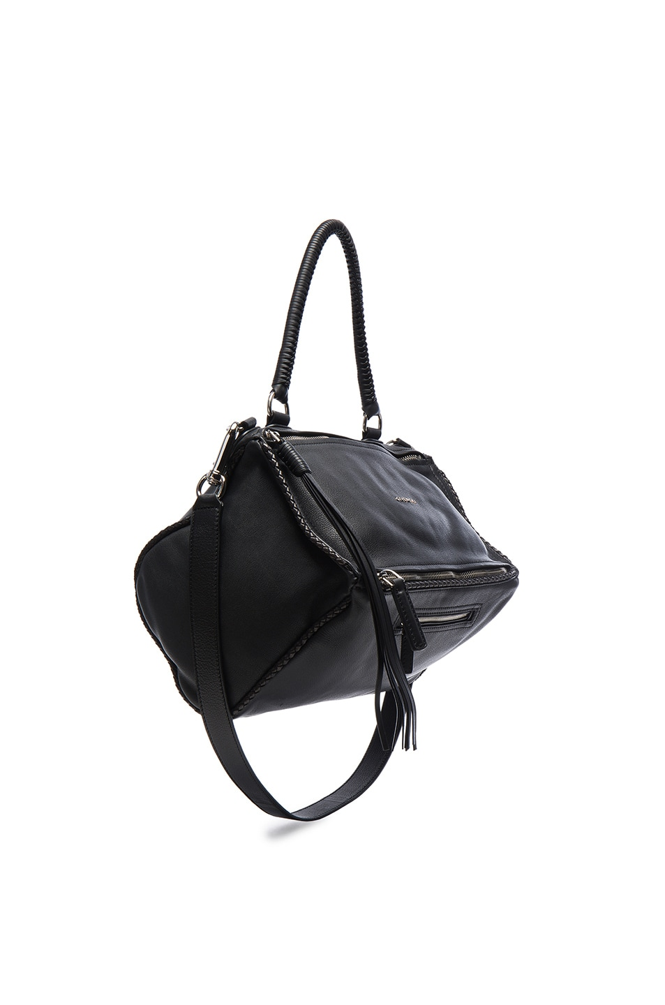 Image 1 of Givenchy Medium Leather With Braided Details Pandora in Black