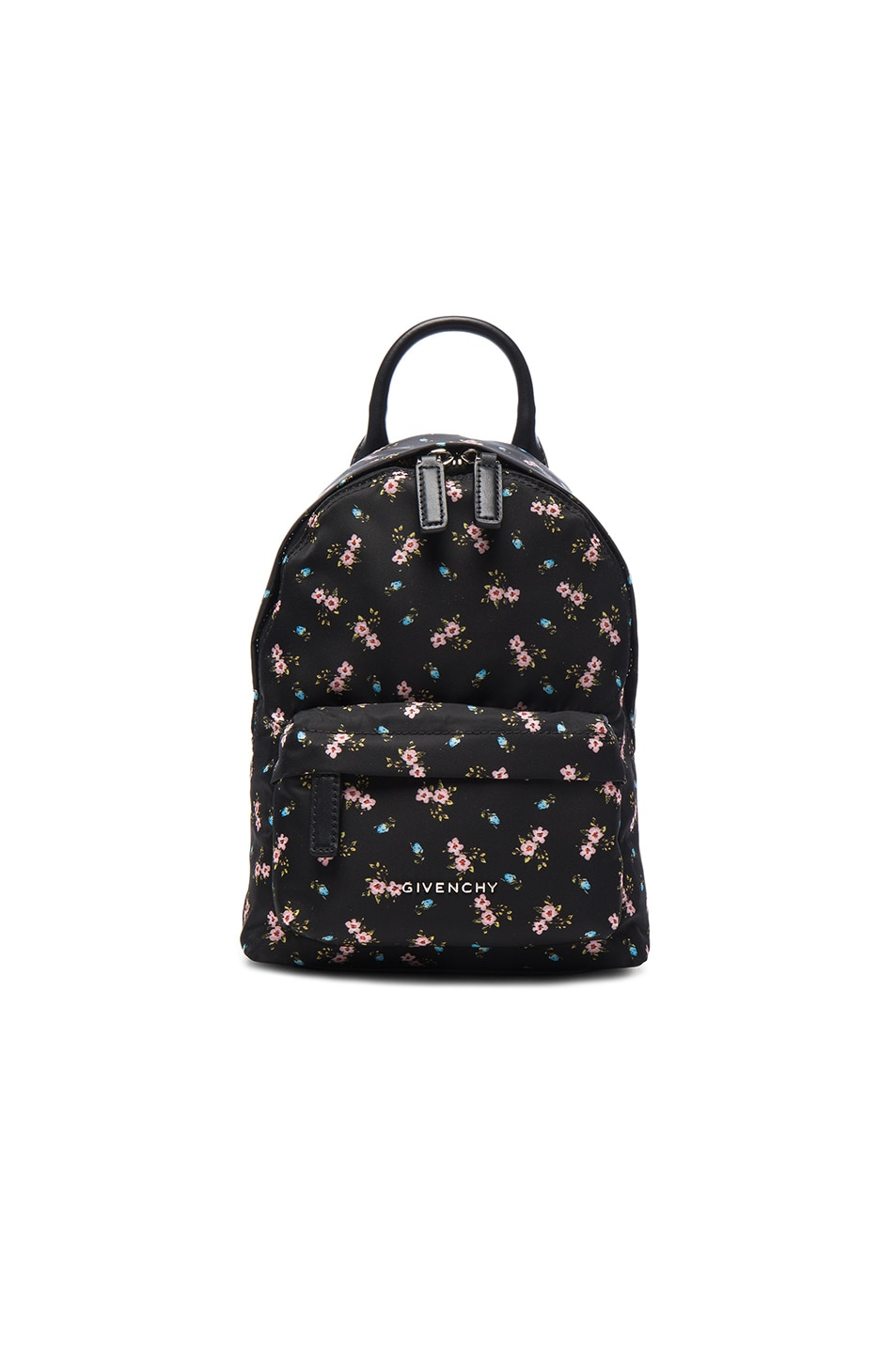 Image 1 of Givenchy Nano Pink Hibiscus Printed Nylon Backpack in Multicolor