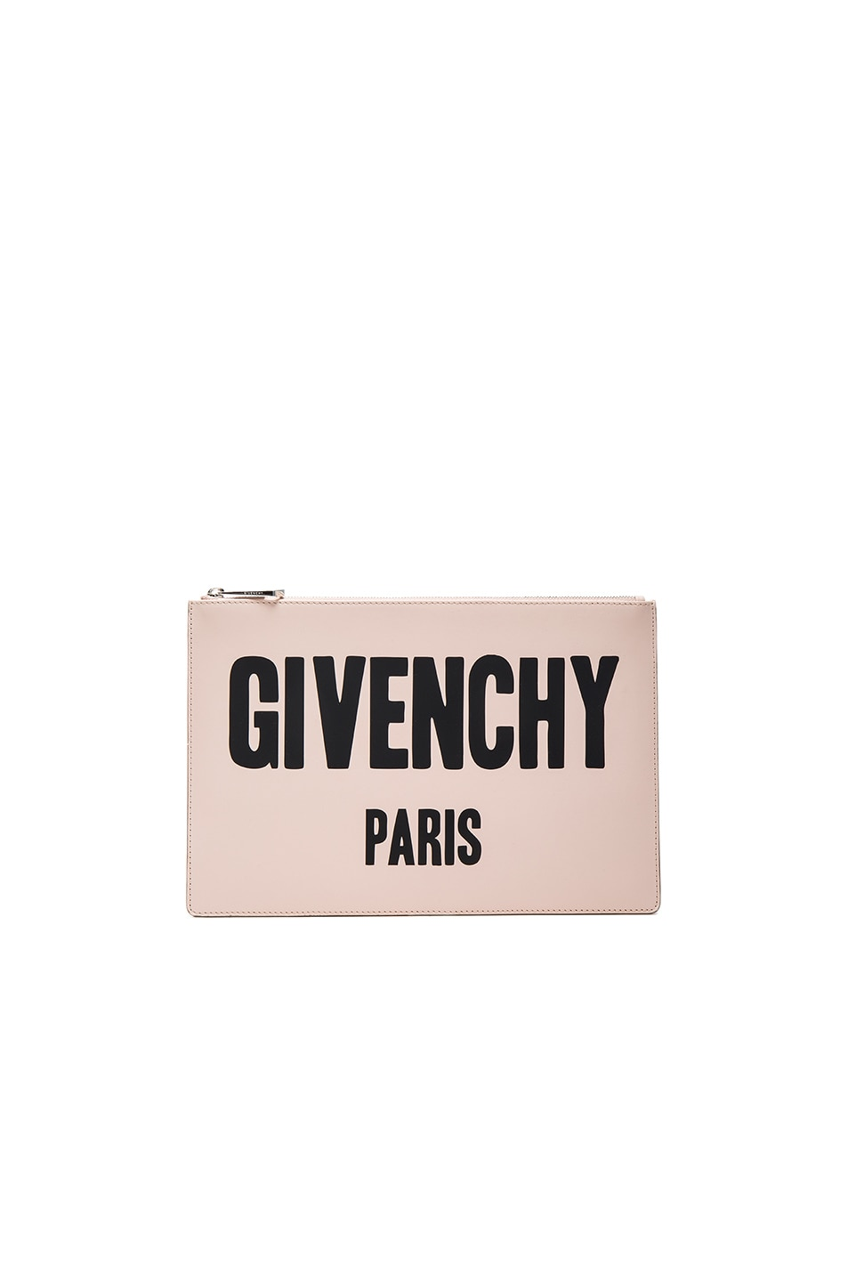Image 1 of Givenchy Paris Printed Medium Pouch in Nude Pink