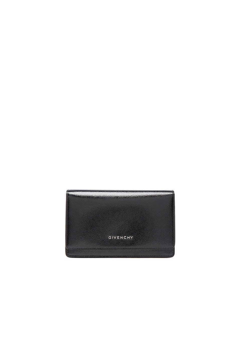 Image 1 of Givenchy Chain Wallet Patent Leather Pandora in Black