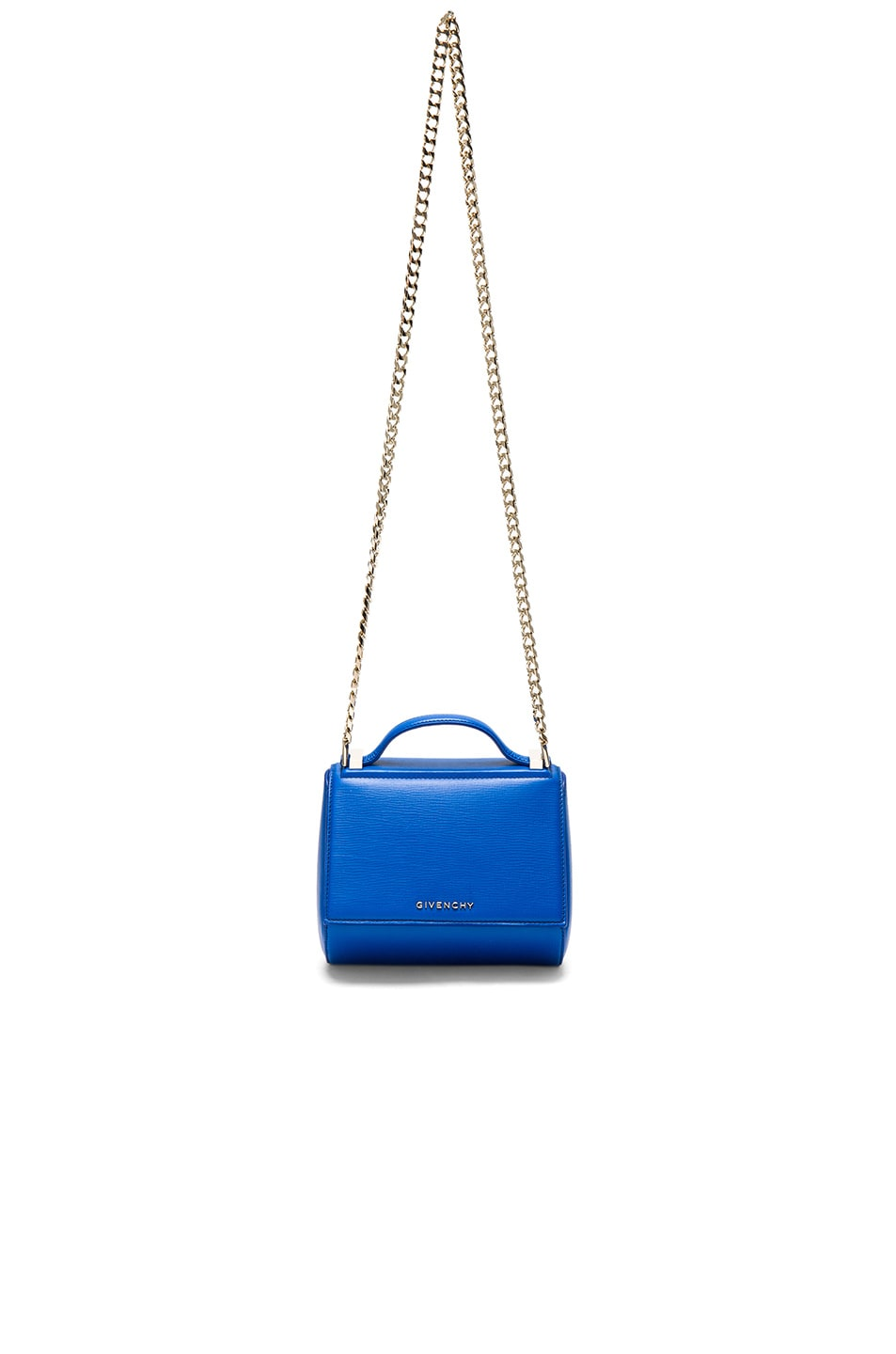 Image 1 of Givenchy Mini Chain Pandora Box in Indigo Blue