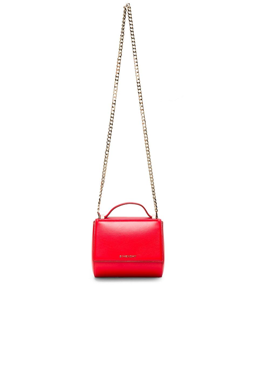 Image 1 of Givenchy Mini Chain Pandora Box in Medium Red