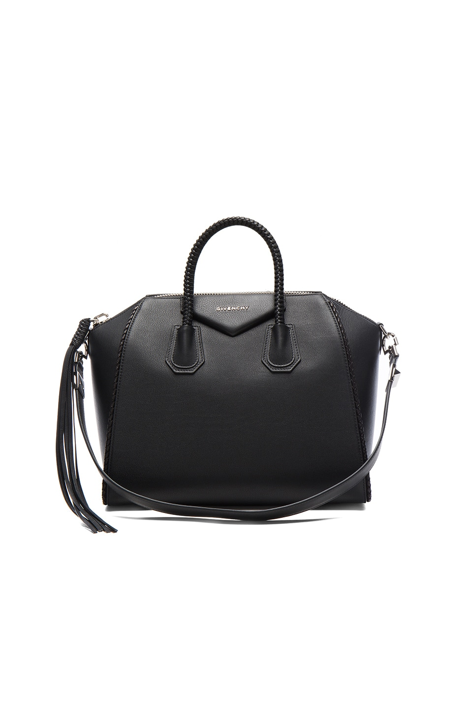Image 1 of Givenchy Medium Braided Leather Antigona in Black