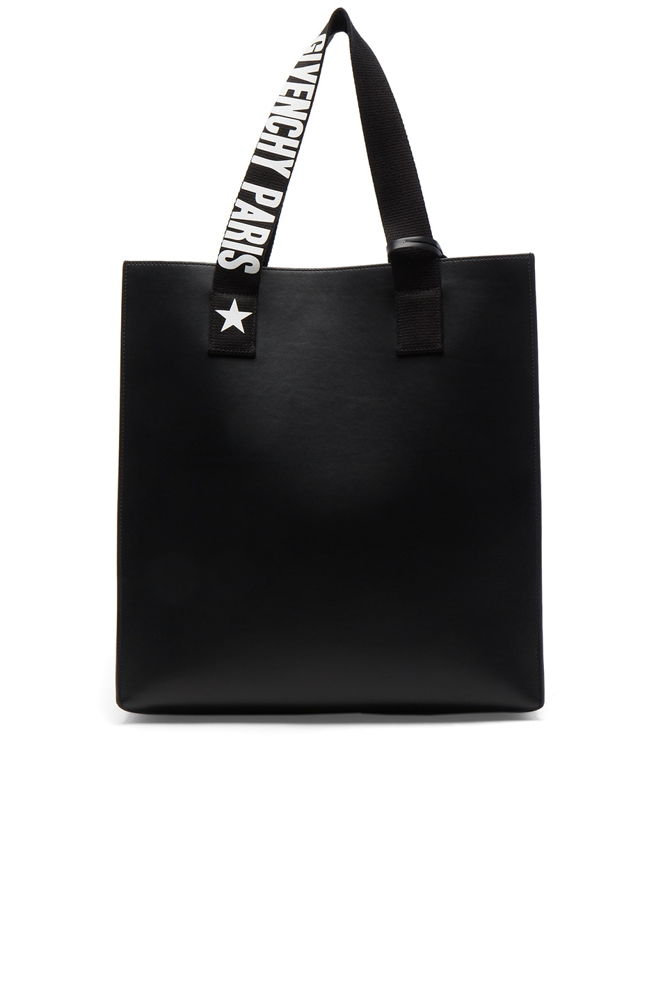 Image 1 of Givenchy Medium Logo Strap Coated Stargate Tote in Black