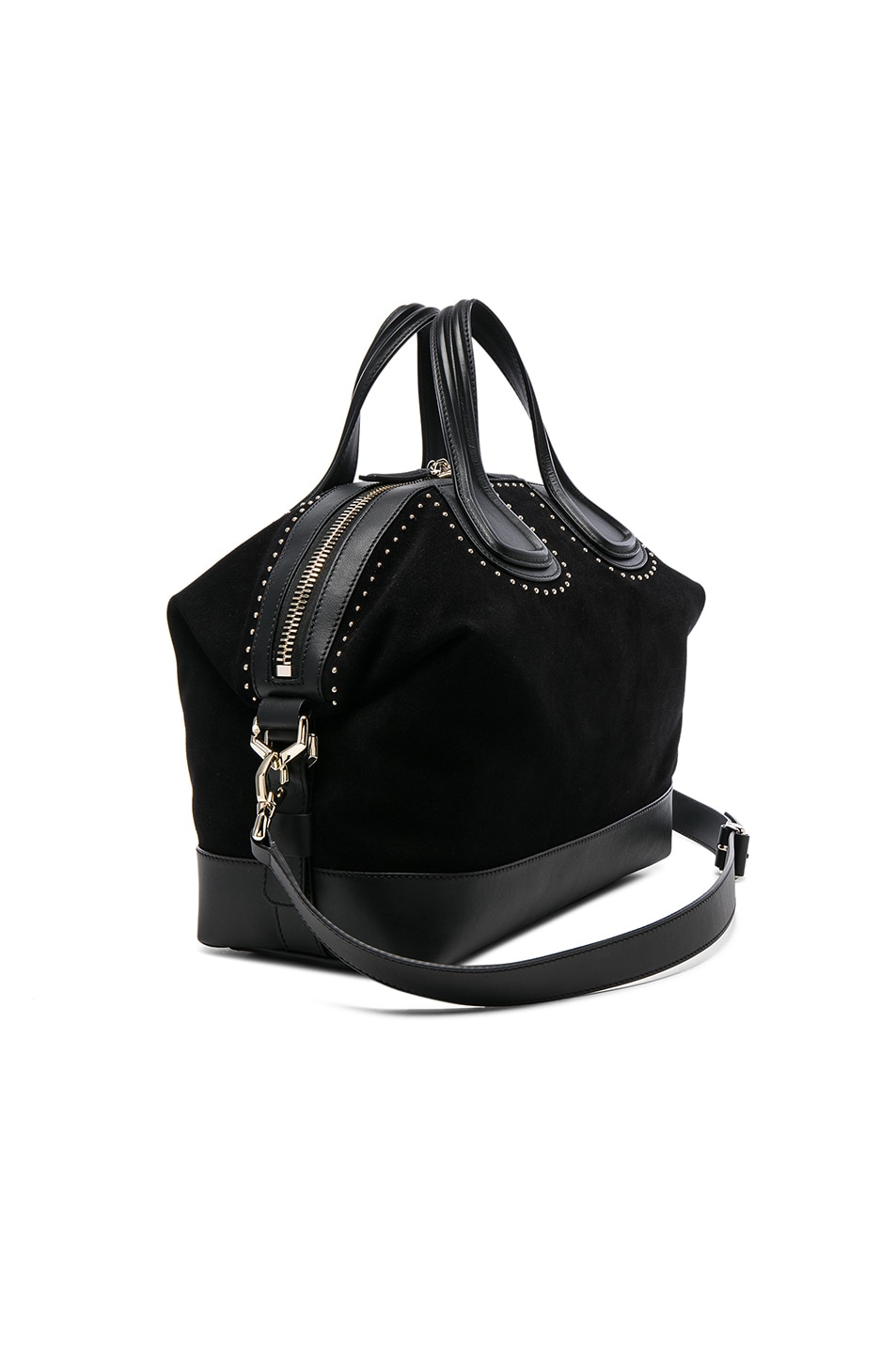 Image 3 of Givenchy Medium Stud Detail Suede Nightingale in Black