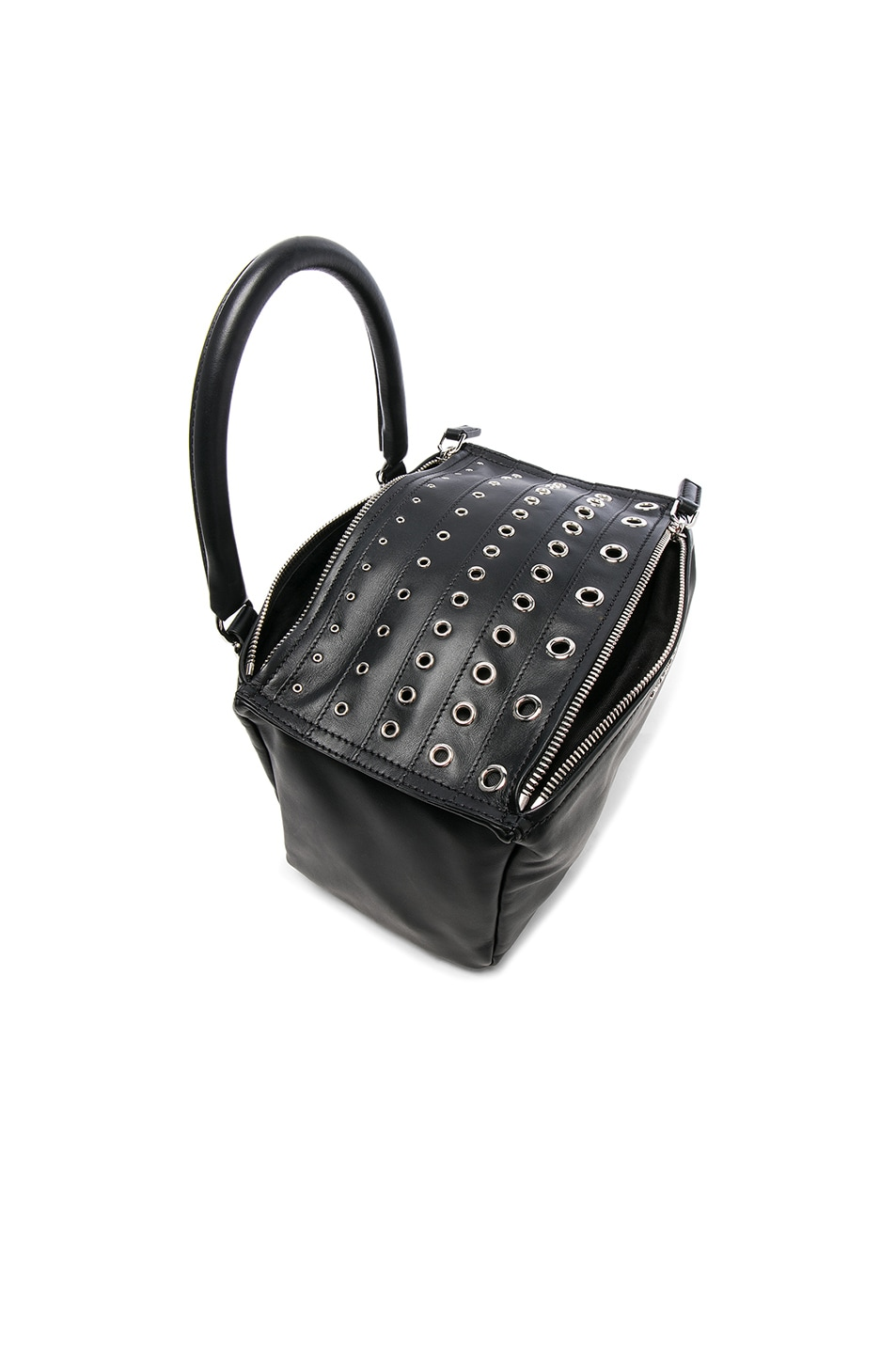 Image 3 of Givenchy Small Silver Stud Detail Leather Pandora in Black