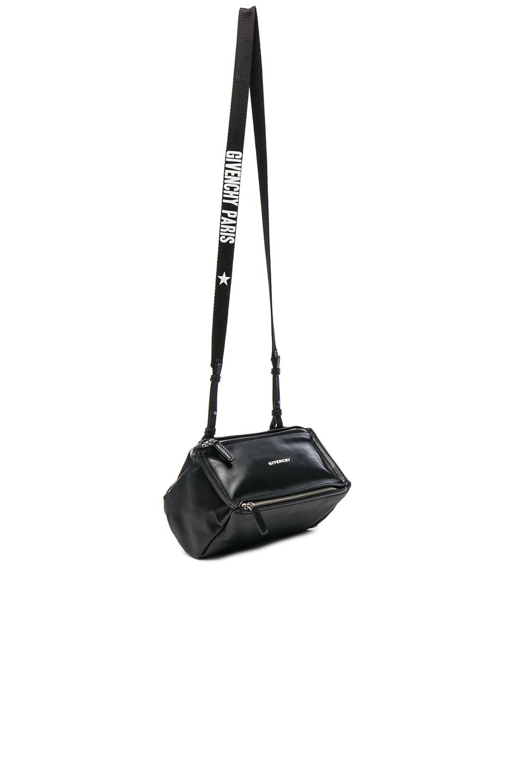 Image 1 of Givenchy Mini Logo Strap Pandora in Black