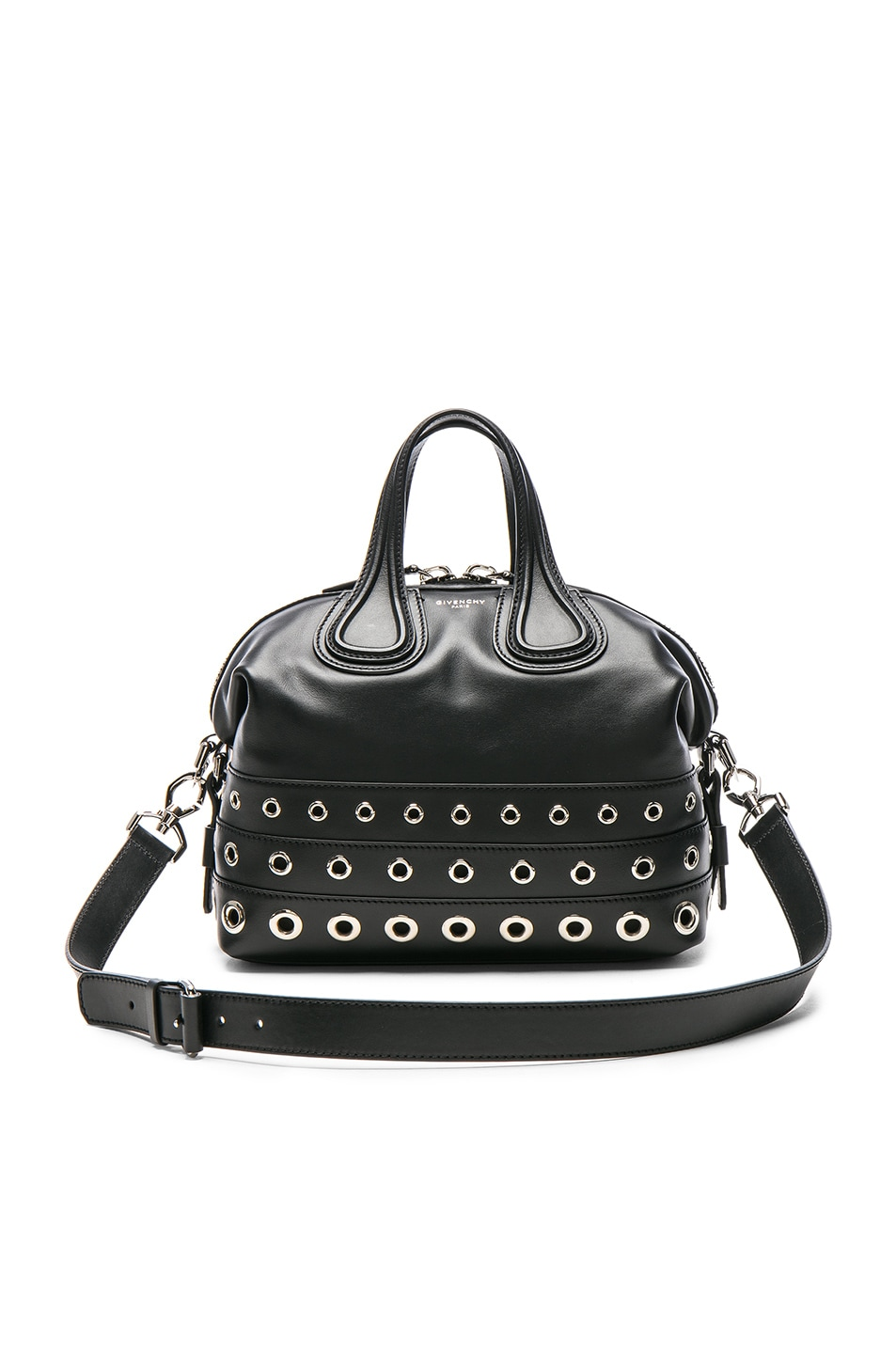 Image 1 of Givenchy Medium Stud Detail Leather Nightingale in Black