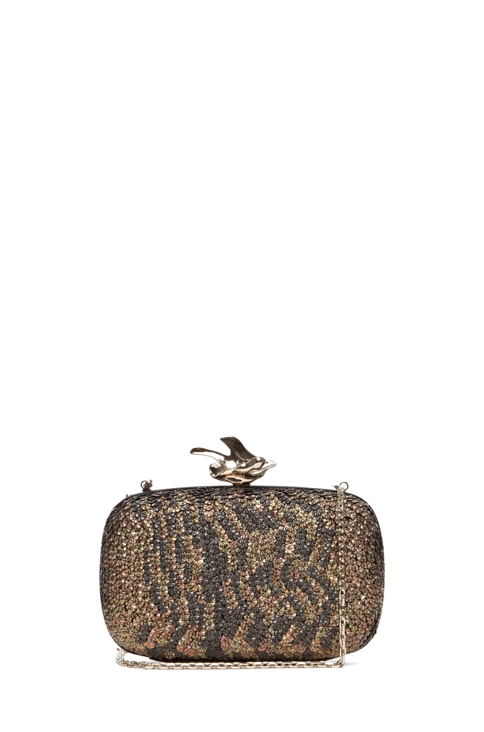 Image 1 of GIVENCHY Metallic Sequin Clutch in Black