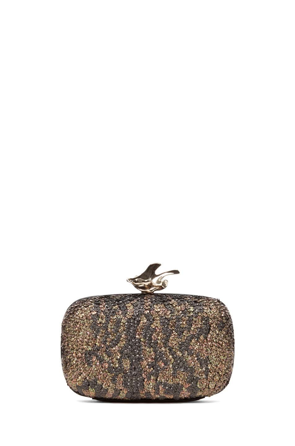 Image 2 of GIVENCHY Metallic Sequin Clutch in Black