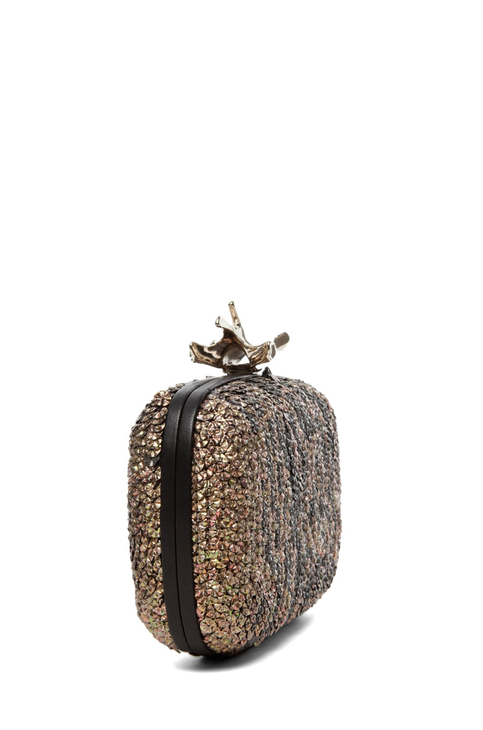 Image 3 of GIVENCHY Metallic Sequin Clutch in Black