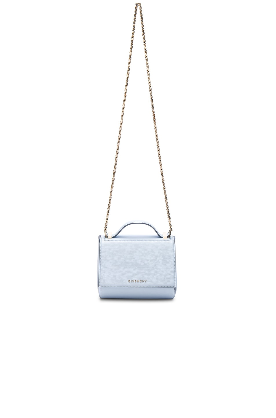 Image 1 of Givenchy Mini Chain Pandora Box in Baby Blue