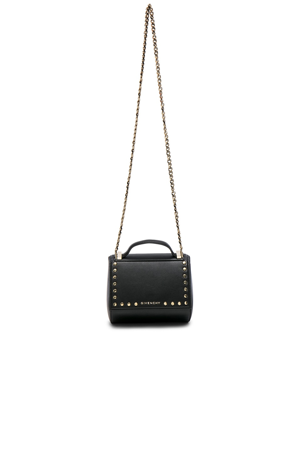 Image 1 of Givenchy Mini Studded Chain Pandora Box in Black