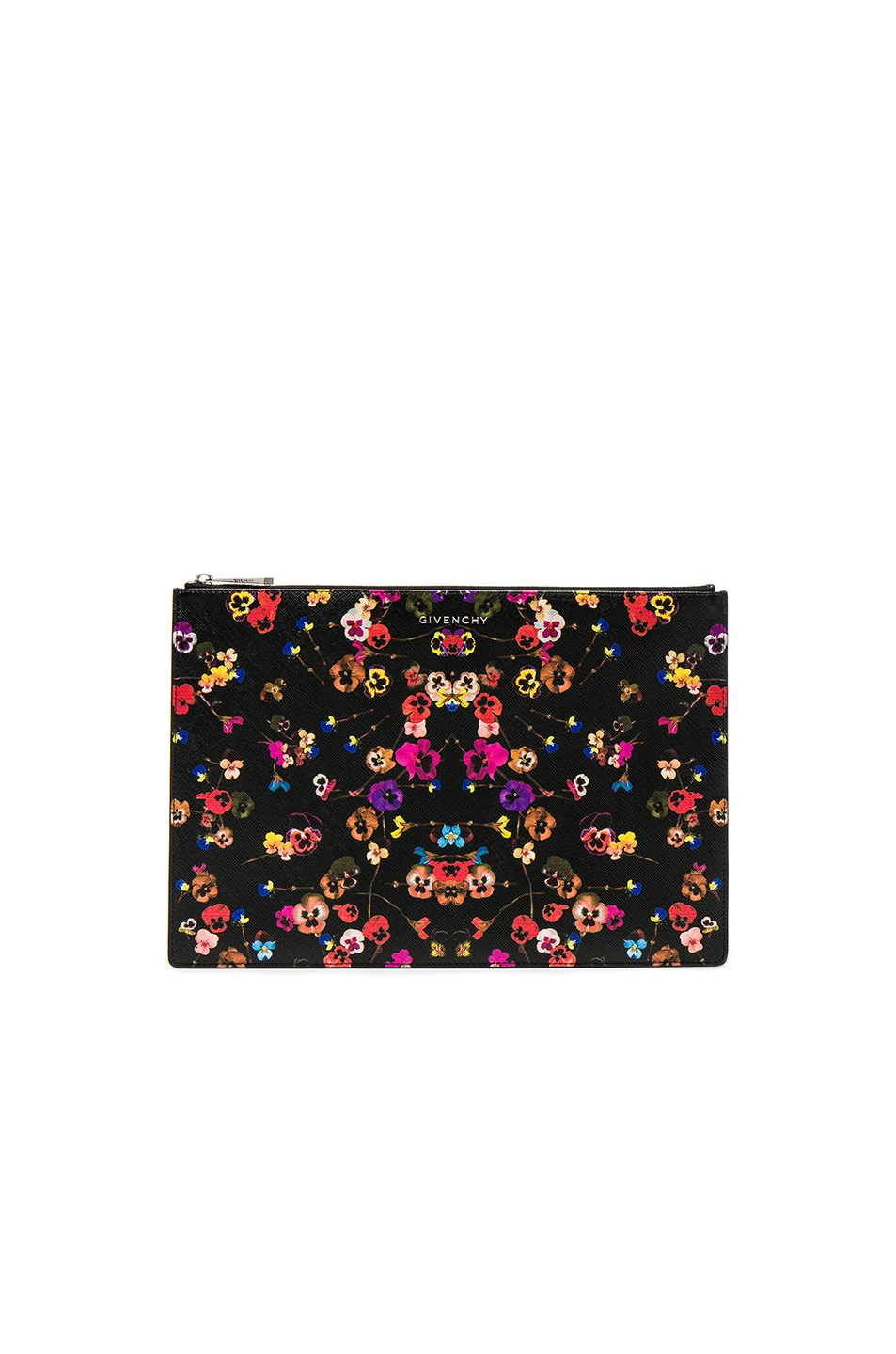 Image 1 of Givenchy Large Night Pansies Pouch in Multi
