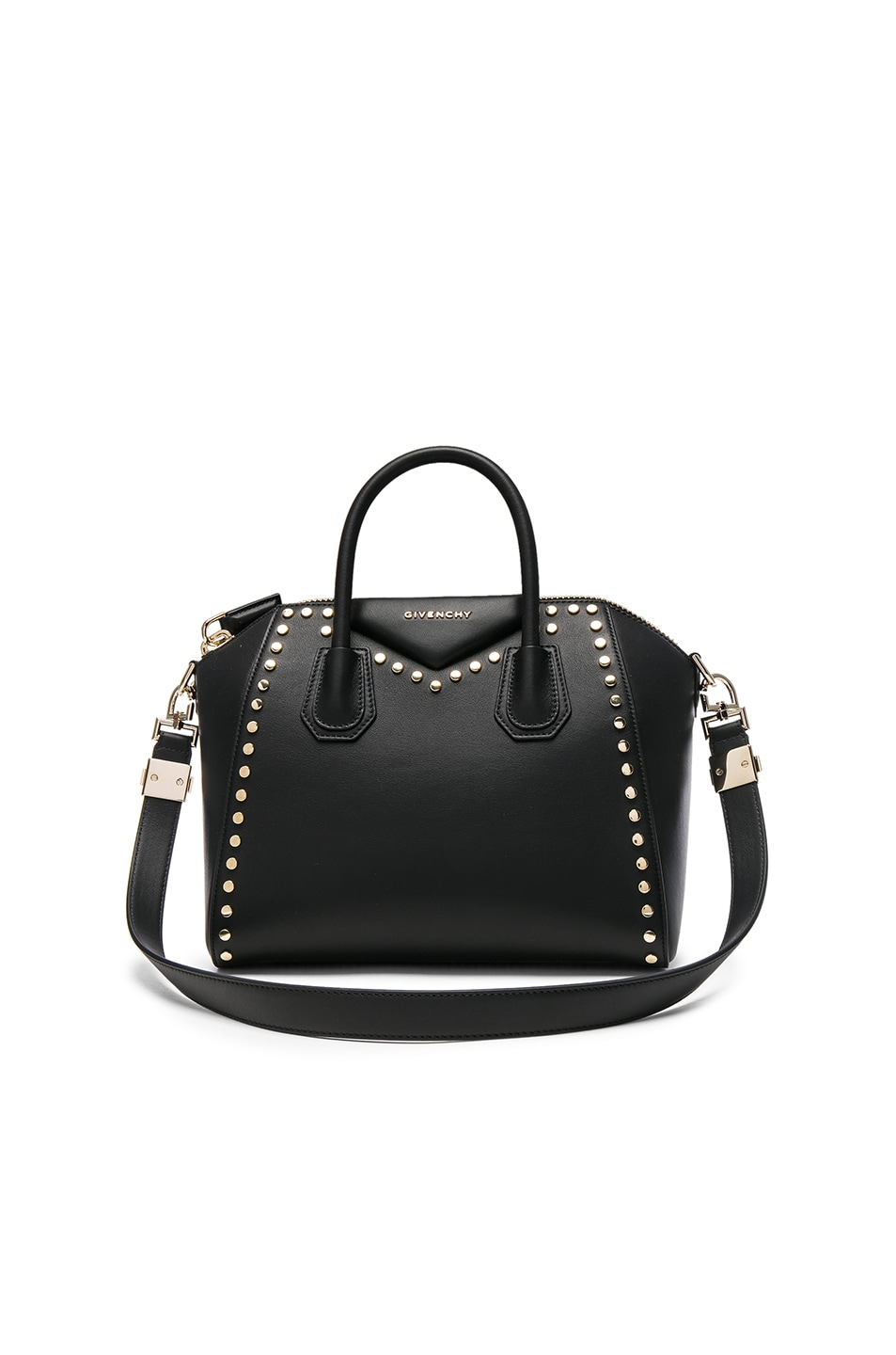 Image 1 of Givenchy Small Gold Stud Antigona in Black