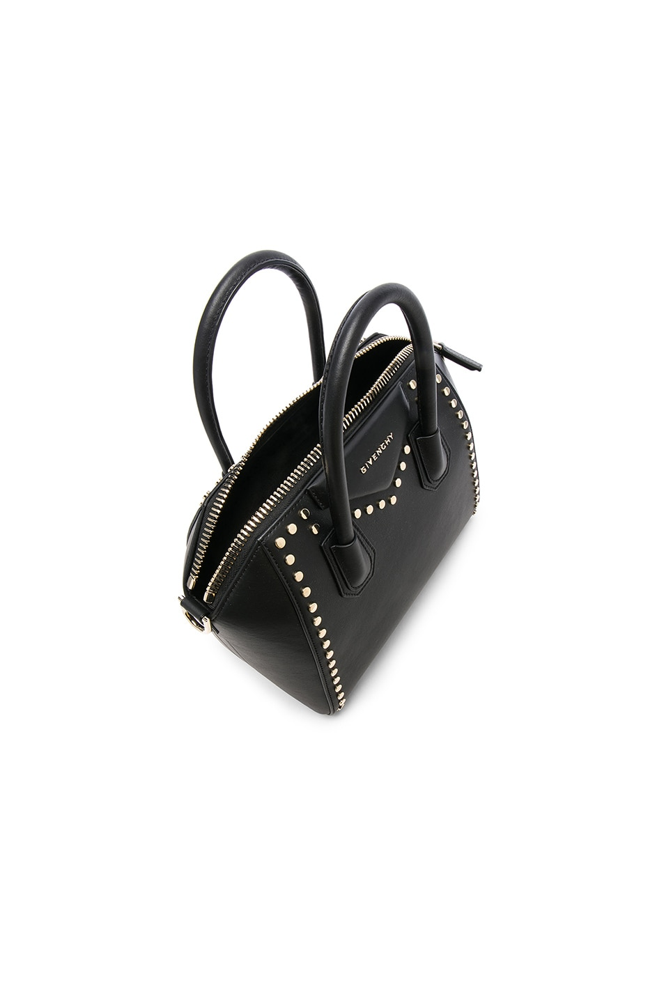 ea34e392b477 Image 4 of Givenchy Small Gold Stud Antigona in Black