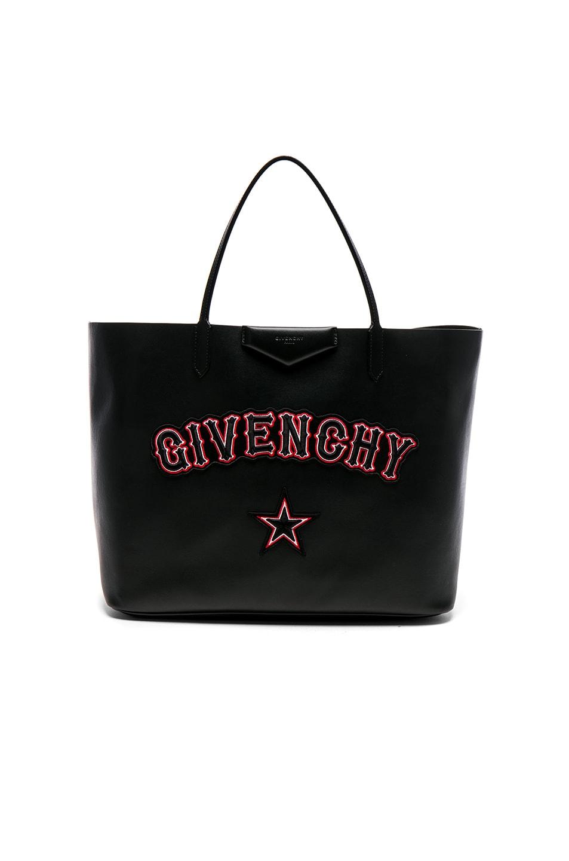 Image 1 of Givenchy Gothic Logo Antigona Tote in Black