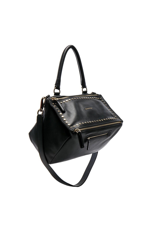 Image 1 of Givenchy Medium Smooth Leather Studded Pandora in Black 0ebaeab549560