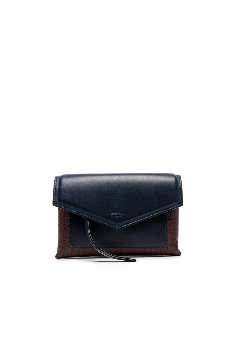 Image 1 of Givenchy Tri Color Duetto Crossbody Flap Bag in Burgundy & Navy