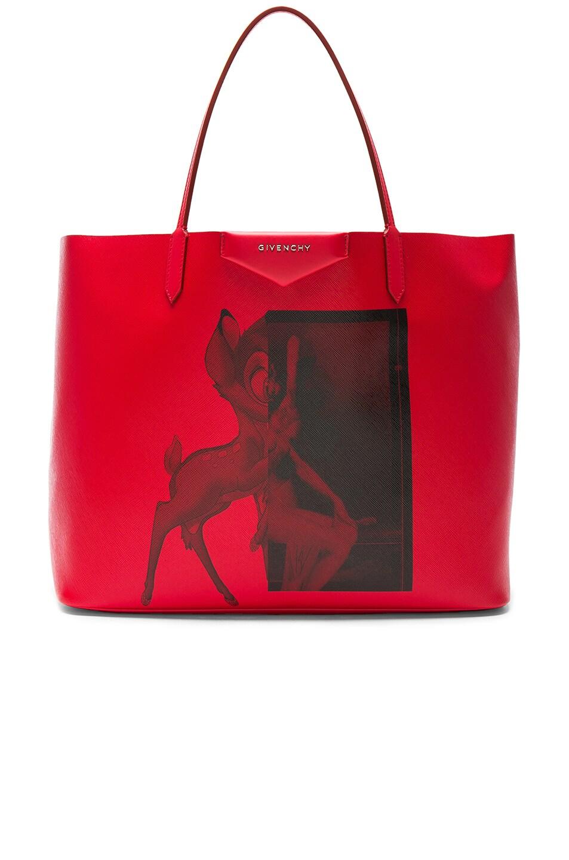 2082a64e33 Image 1 of Givenchy Large Bambi Antigona Shopping Bag in Red