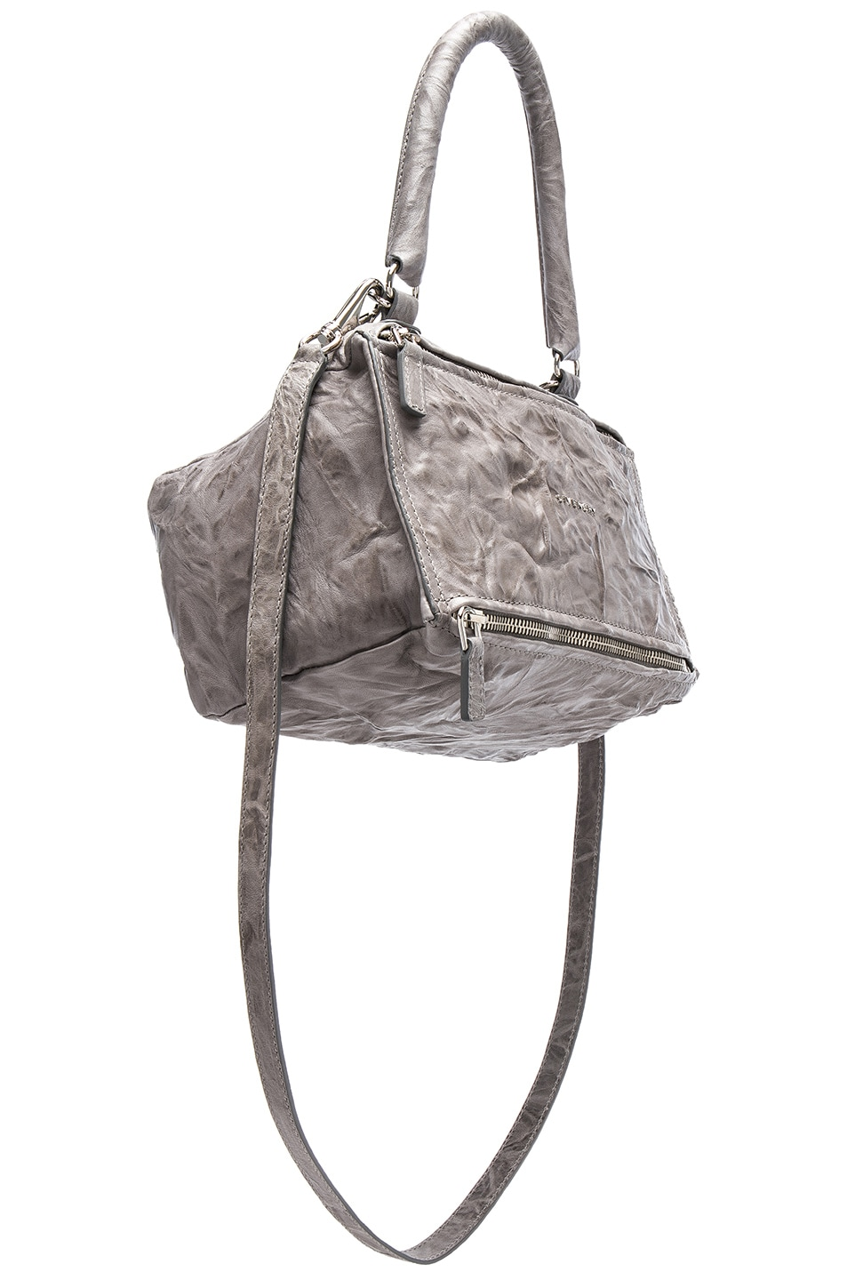 4b8263e6468 ... Givenchy Pandora Old Pepe Small Leather Shoulder Bag In Gray new style  64dc1 1cb13 ...