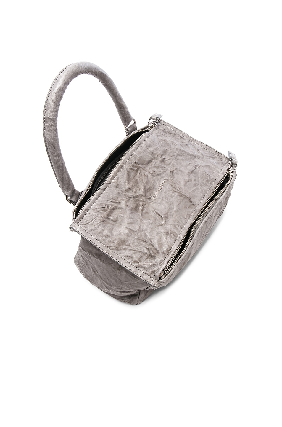 Image 3 of Givenchy Small Old Pepe Pandora in Pearl Grey 78a0a3472fa42