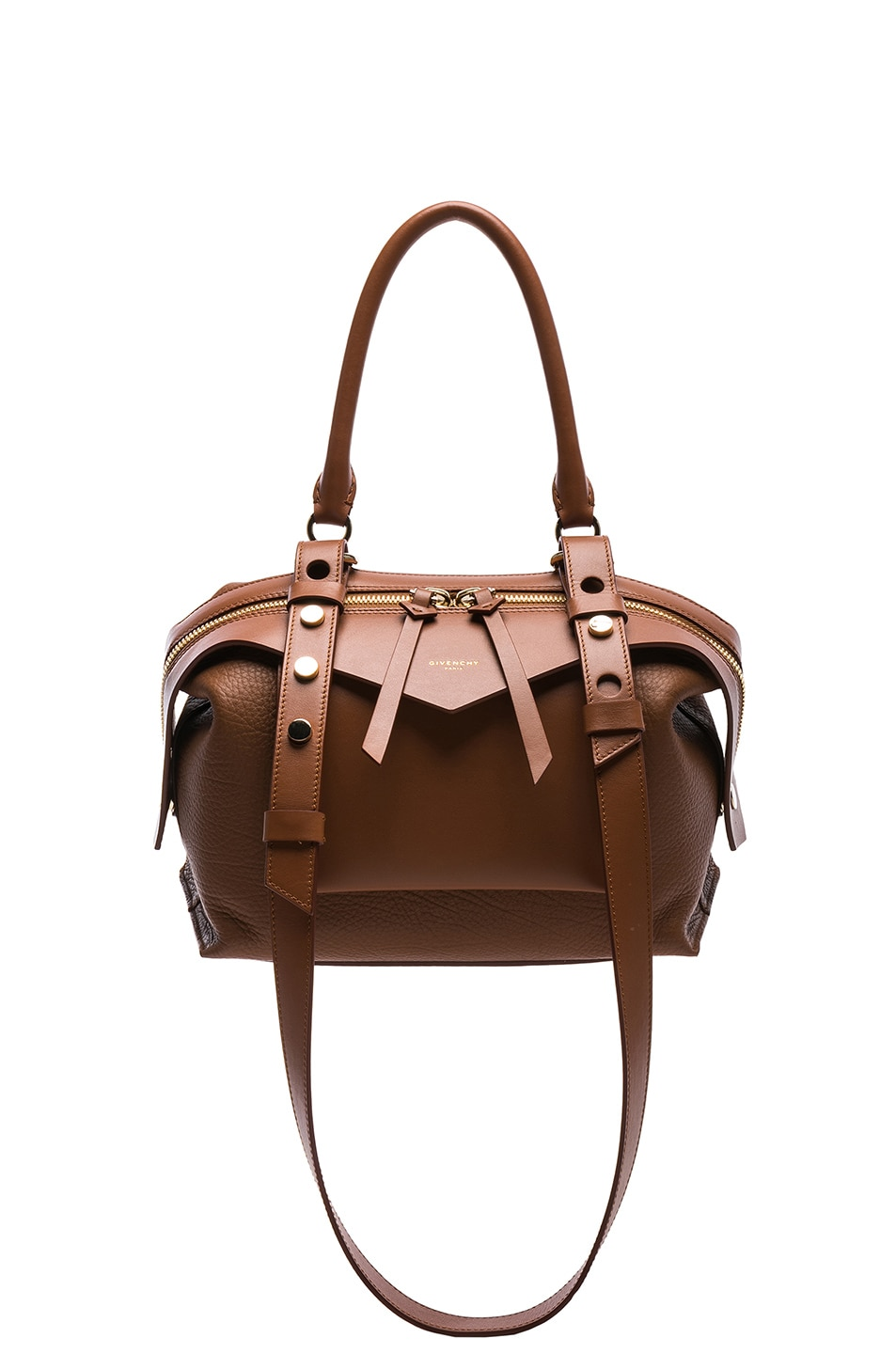 78e6ca075fa9 Image 1 of Givenchy Small Grained   Smooth Leather Sway in Cognac