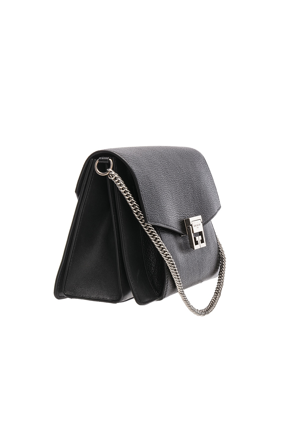 Image 4 of Givenchy Medium Leather GV3 in Black